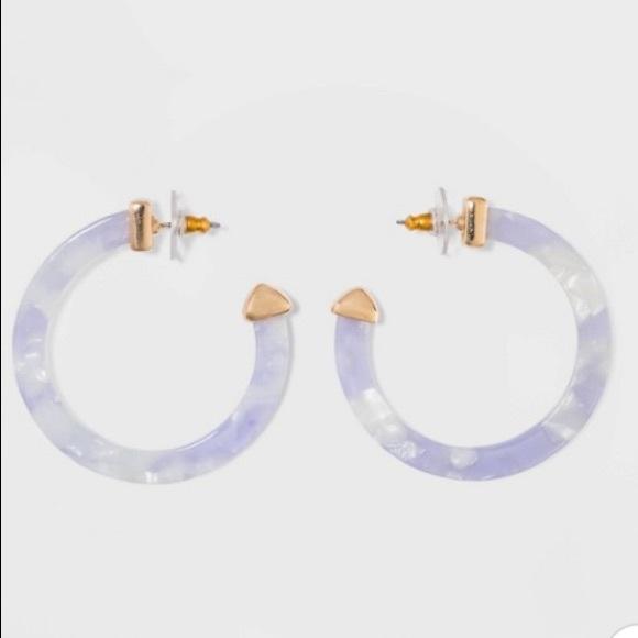 BaubleBar Jewelry - SUGARFIX by BaubleBar Classic Resin Hoop Earrings